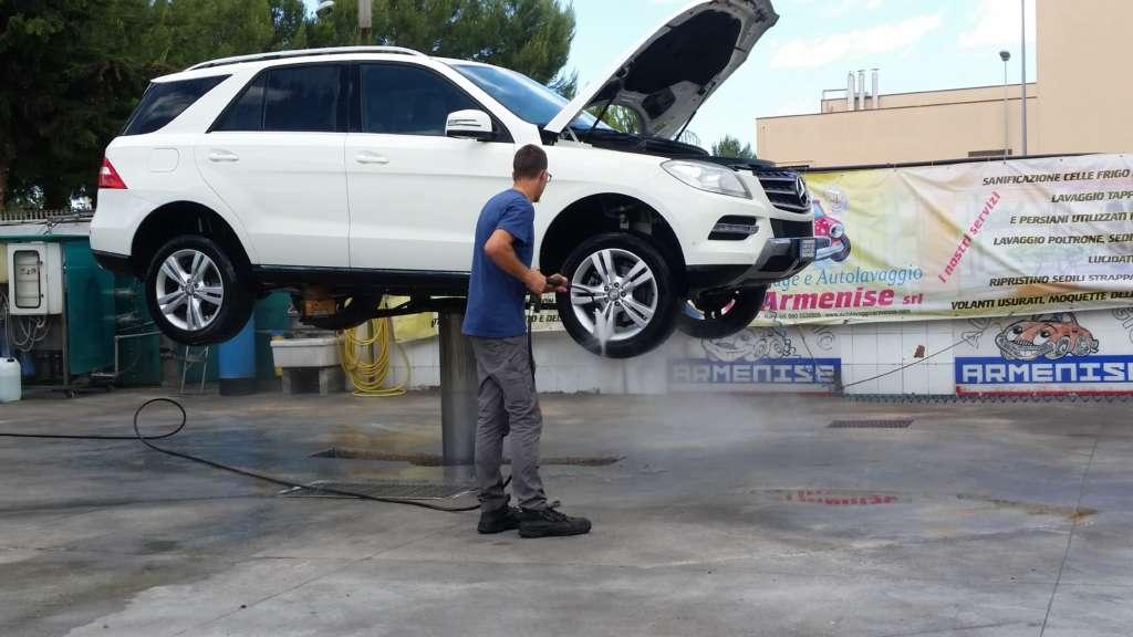 Grafitaggio e lavaggio motore Mercedes ML